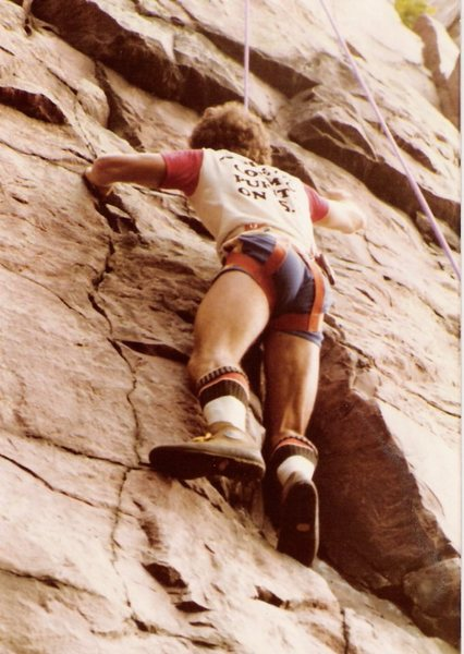 'Gym shorts up the crack' should have been the name of the route.