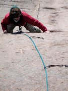 Rock Climbing Photo: Jon following perfect edges up the 2nd pitch