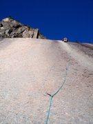 Rock Climbing Photo: Jon leading the great 3rd pitch