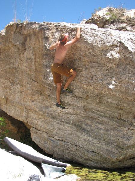 Rock Climbing Photo: Swamp Thing. Avoid splashing down into the stagnan...