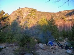 Rock Climbing Photo: The cool campsite near the river. If you're planni...