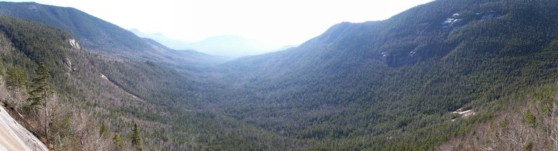 Panoramic shot from up on the cliff. This seems like a vast wilderness with more moose than people. A change from the crowds at Cathedral.