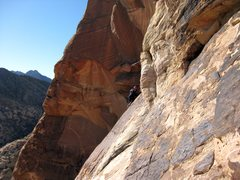 "Rock Climbing Photo: An unknown climber following the ""under the r..."