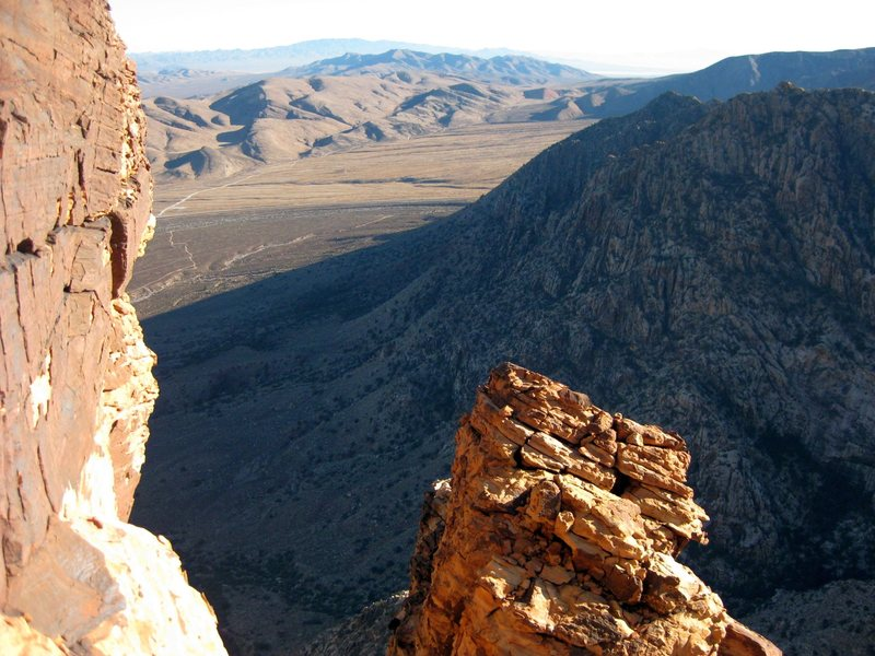 Beautiful views await you climbing routes on Windy Peak! (Looking southeast)<br> <br> <br> Taken from the final pitch of Jubilant Song, and Windy Corner 11/25/09