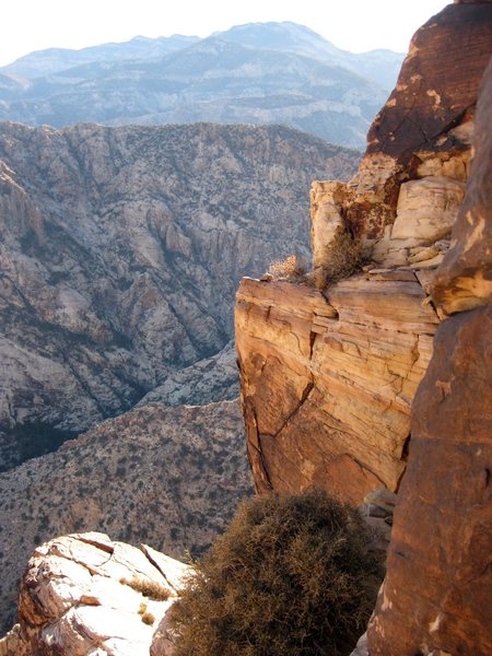 A nice view looking south towards Mt. Potosi from high up on Windy Peak.<br> <br> Taken 11/25/09