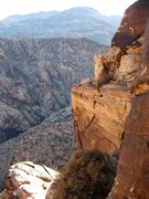 Rock Climbing Photo:  A nice view looking south towards Mt. Potosi from...
