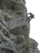 Rock Climbing Photo: SF on the Arete on pitch 1. Oct. 09
