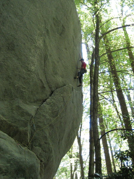 Rock Climbing Photo: That is a BIG boulder.