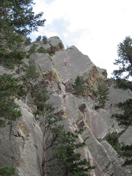 Rock Climbing Photo: Me leading pitch two of 'Over the Hill'  after the...
