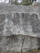 Rock Climbing Photo: Splitter- One move wonder