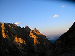 Rock Climbing Photo: Cascade Canyon sunset.