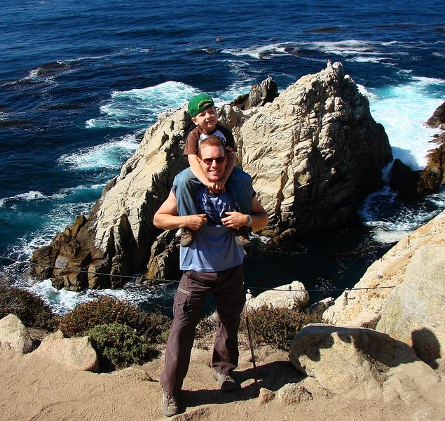 Near Monterey, CA with the boy, Sept 09.
