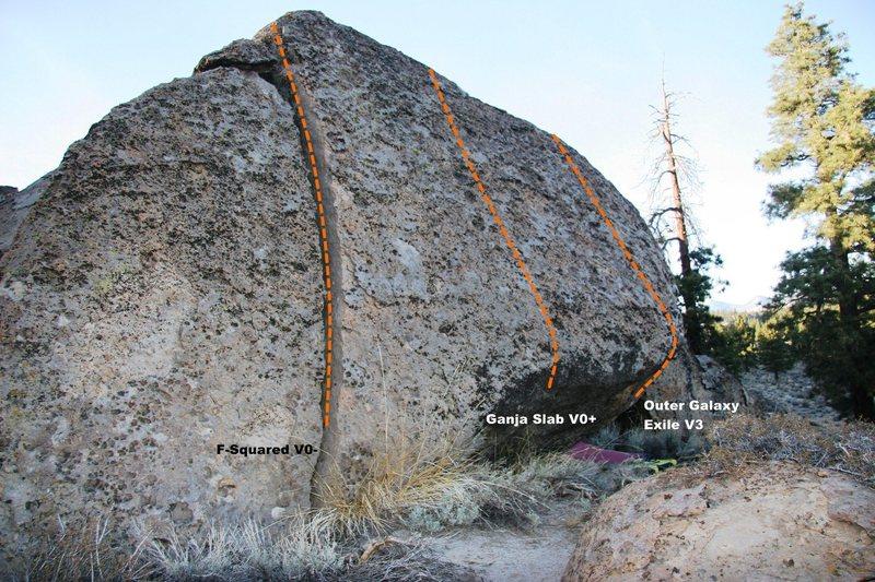Rock Climbing Photo: Magnolia Boulder North East face topo