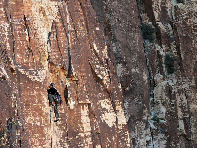 Rock Climbing Photo: On the long first pitch of Wholesome Fullback. Fro...