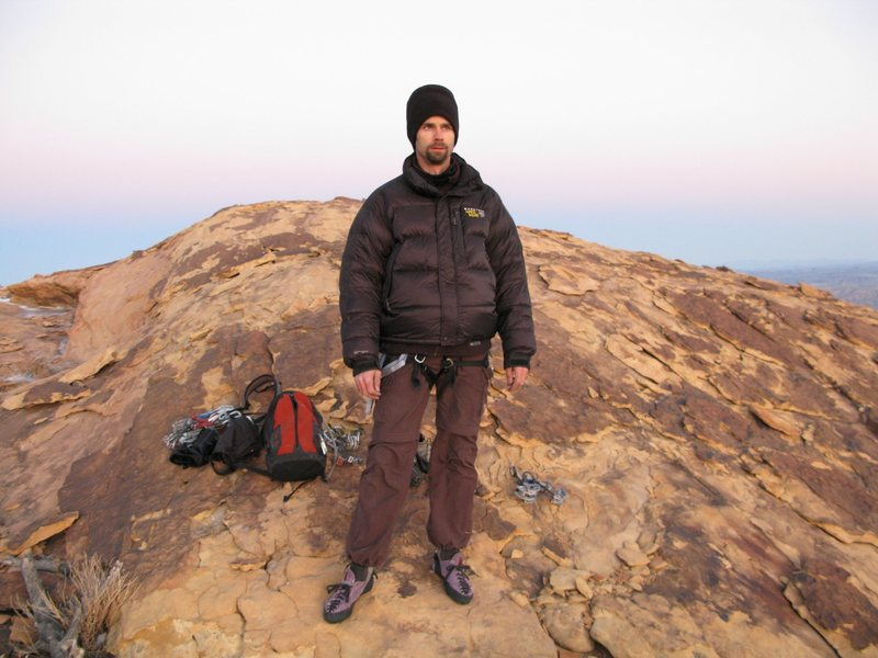 Rock Climbing Photo: Summit of Windy Peak after climbing an icy Jubilan...