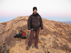 Rock Climbing Photo: Summit of Windy Peak after climbing an icy Jubilan...