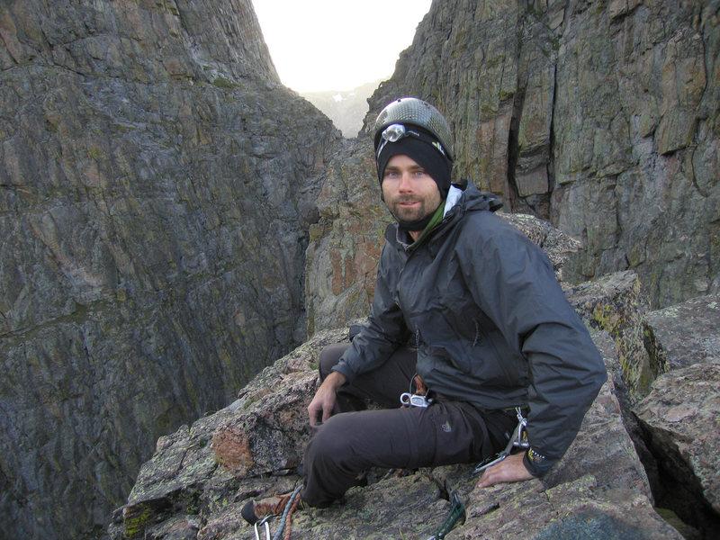 On the summit of Petit Grepon.