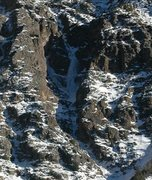 Rock Climbing Photo: A little more of a close-up of the route, showing ...