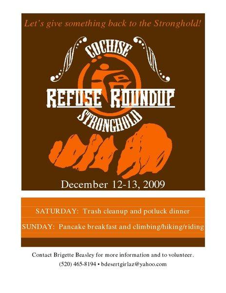 Cochise Refuse Roundup 2009 Flyer