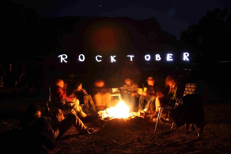 Rock Climbing Photo: Fireside shenanigans in the Creek