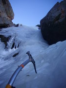 "Rock Climbing Photo: First pitch of ice on ""The Road"" Taken 1..."