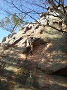 Rock Climbing Photo: Matt Spelman on Mouse Tracks. 11/27/2009