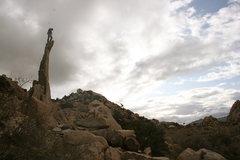 Rock Climbing Photo: Nathan Aiguille de Joshua Tree. 11-28-09