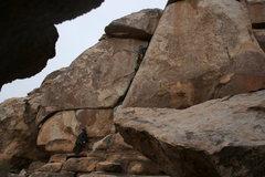 Rock Climbing Photo: Me on False Classic Corner. 11-28-09