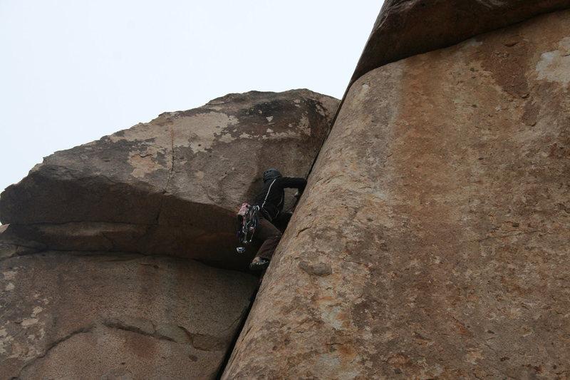Rock Climbing Photo: Agina at the crux of False Classic Corner. 11-28-0...