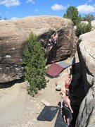 Rock Climbing Photo: the gentleman in the back is on Shamrock.  Notice ...
