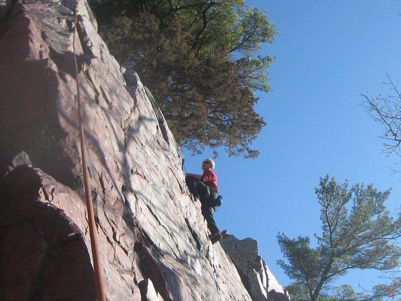 P. Arndt on Balance Rock Wall