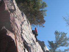 Rock Climbing Photo: P. Arndt on Balance Rock Wall