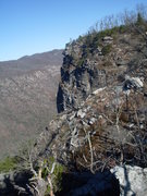 Rock Climbing Photo: Shortoff cliff from Mountains to Sea trail