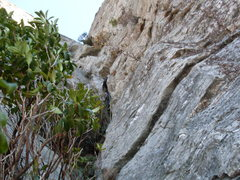 Rock Climbing Photo: Pete on 2nd pitch Little Corner