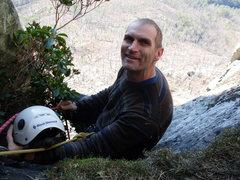 Rock Climbing Photo: Pete belays 2nd pitch Little corner