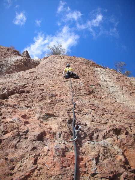 Rock Climbing Photo: Climber on P2 of Harvey on a wonderfully sunny Fal...