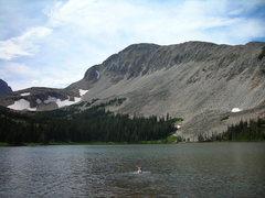 Rock Climbing Photo: Water dog.