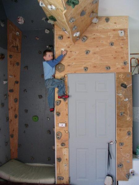 Cliimbing wall.