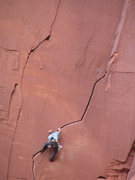 Unknown climber on Run Like Hell.