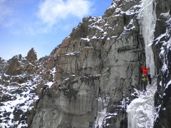 Rock Climbing Photo: Kevin Craig on Aaron's Gift P1 (2nd acent)
