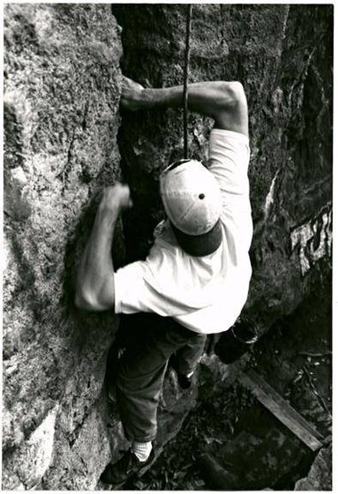 Rock Climbing Photo: Shawn Saffran on Blue Rose