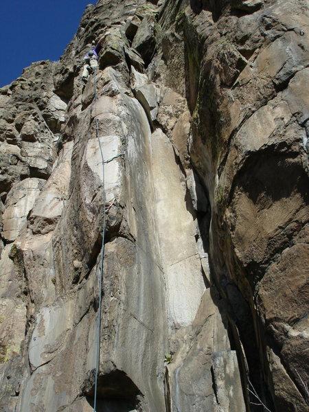 Rock Climbing Photo: Tom leading AFfC.