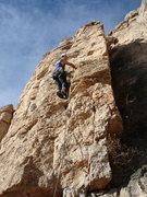 Rock Climbing Photo: Lin Murphy leading Sugar & Spice.