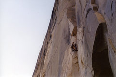 Rock Climbing Photo: Working up into the circle in a brief moment of th...