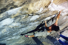 Rock Climbing Photo: Sticking the lip of Cytogrinder, this was on the w...