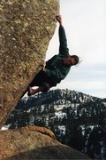 Rock Climbing Photo: Climbing the Bloody Arete V9 back in the '90s. Thi...