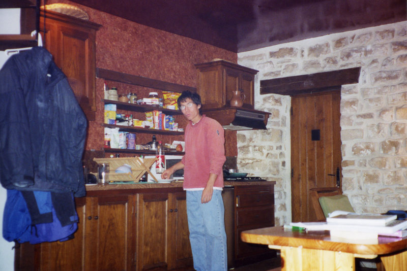 Rock Climbing Photo: Trying my hand at cooking, not really a good idea,...