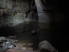Rock Climbing Photo: Enjoying my swimming disconnect in Zion.   9/16/09