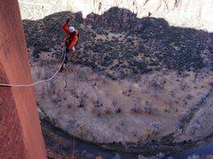 Rock Climbing Photo: Erik Rieger jugging P6.