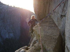 Rock Climbing Photo: Jason Price traversing to the chains on Ejesta.